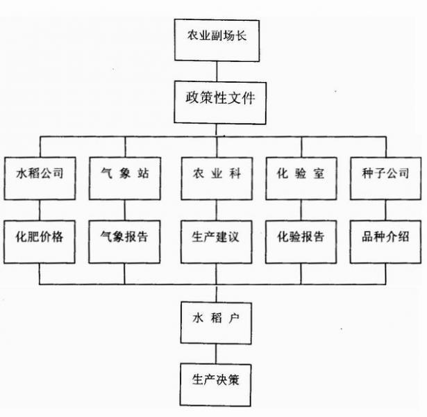 图1 某国营农场水稻生产组织机构和业务流程图图片
